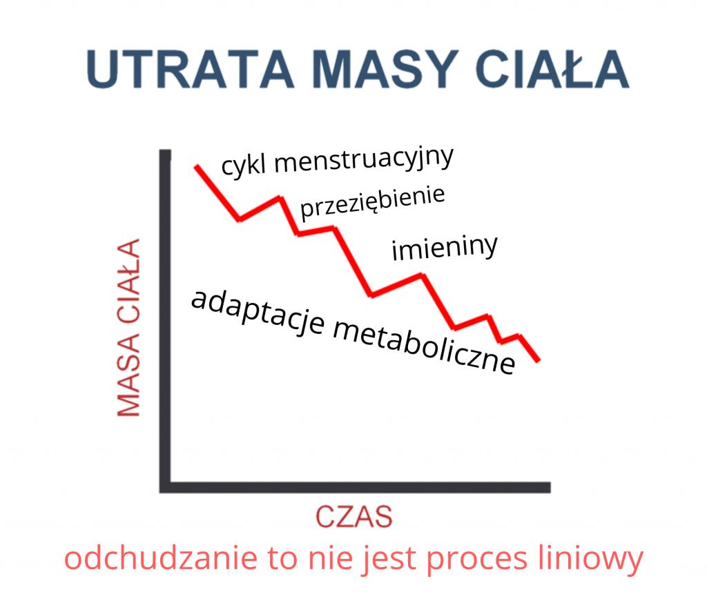 utrata masy ciała - wykres